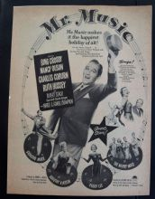 Mr Music (1950) - Bing Crosby | Vintage Trade Ad
